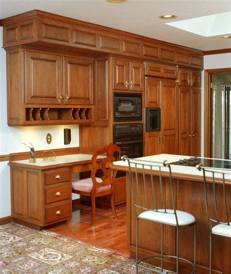 Traditional style kitchen with detailed raised paneled