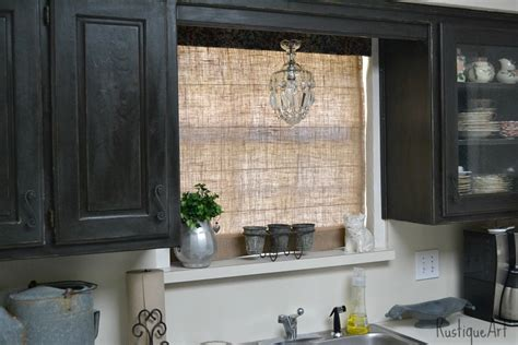 burlap window blinds a burlap shade for my kitchen window
