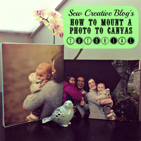 Great Handmade Gifts - how to mount a photo to canvas tutorial 5 00 gift