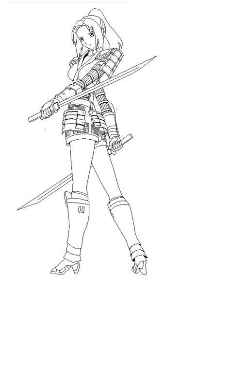 girl ninja coloring page ninja sword woman coloring page epic pics pinterest