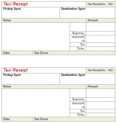 pre paid rent receipt template 16 free taxi receipt templates make your taxi receipts