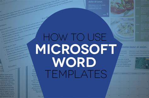 how to use document templates in microsoft word digital