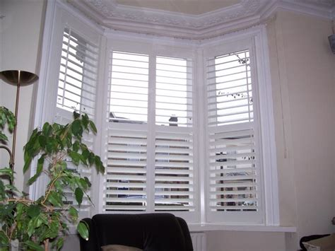 White Home Interior Design by Bay Window Shutters Gallery
