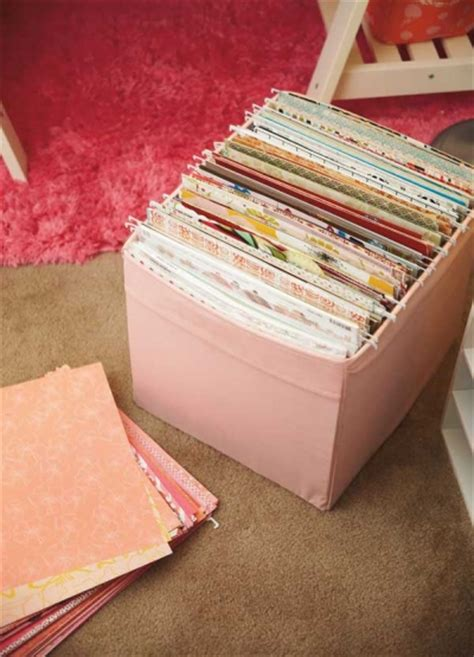 How To Make An Envelope With 12x12 Paper - 20 scrapbook paper storage ideas the scrap shoppe