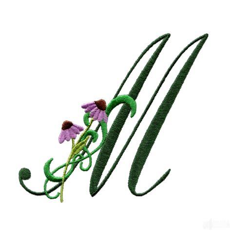 flower design m letter m floral monogram embroidery design
