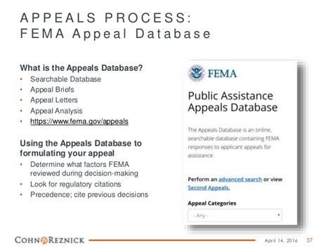 Appeal Letter To Fema appeals presentation tdem conference