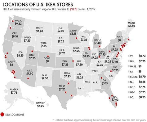 ikea locations ikea raises its minimum wage to 10 76