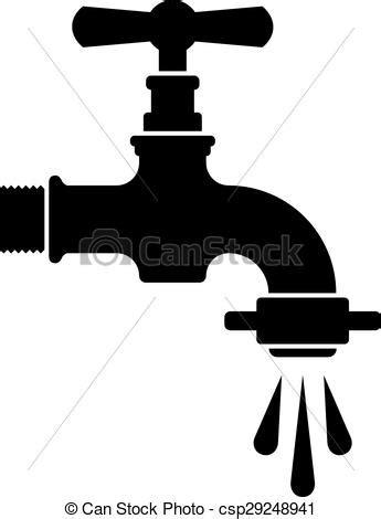 vecteur eps de robinet robinet eau vecteur noir retro