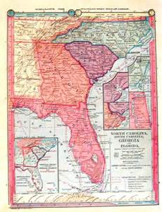 map of florida south carolina 1885 map south carolina carolina and florida