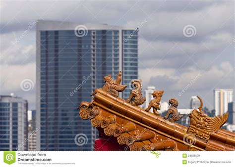 roof decoration roof decoration of chinese temple royalty free stock images image 24826509