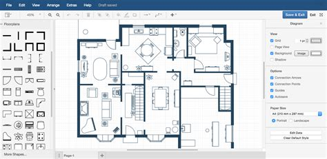draw floor plan exles draw io