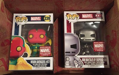 Funko Pop Marvel Appearance Iron Tales Gold funko marvel collector corps appearance august subscription box revealed
