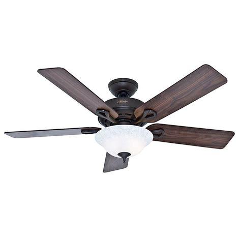 hunter bronze ceiling fan hunter kensington 52 in indoor bronze ceiling fan with