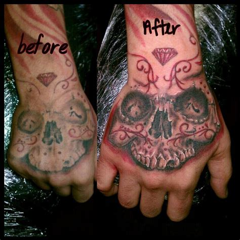 tattoo rework gallery reworked hand skully by bobby cimorelli tattoonow