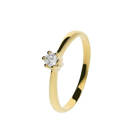 Juwelier Ring by Juwelier Kraemer Ring Diamant 585 Gold Ca 0 10 Ct