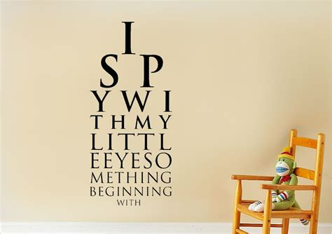 Pictures Of Yellow Kitchens - i spy text quotes wall stickers adhesive wall sticker