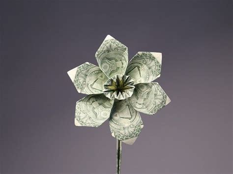 Origami Flower Dollar - details about beautiful money origami pieces many