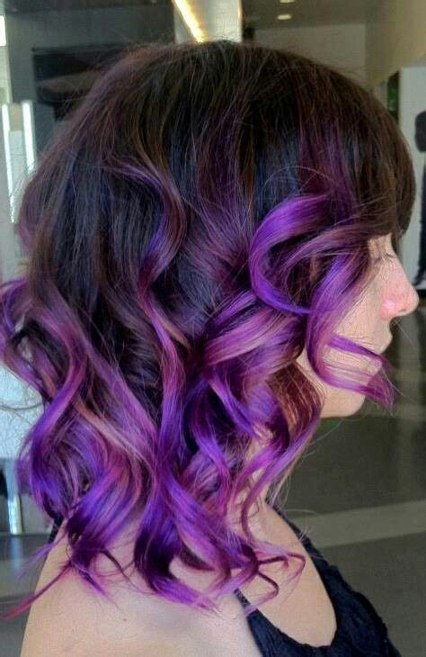chocolate hair in hattiesburg purple ombre ombre and dark brown on pinterest
