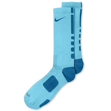 light blue nike socks nike mens athletic elite performance basketball socks in