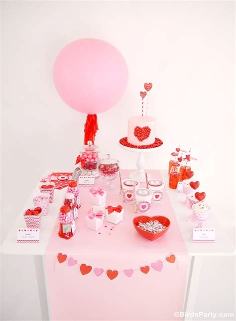 valentines day table sweet heart valentine s day desserts table printables