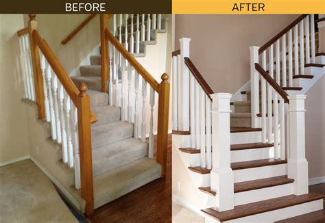 before after archives woodworks stair skirt