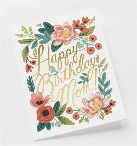 Home Interior And Gifts Catalog by Happy Birthday Mom Greeting Card By Rifle Paper Co Made