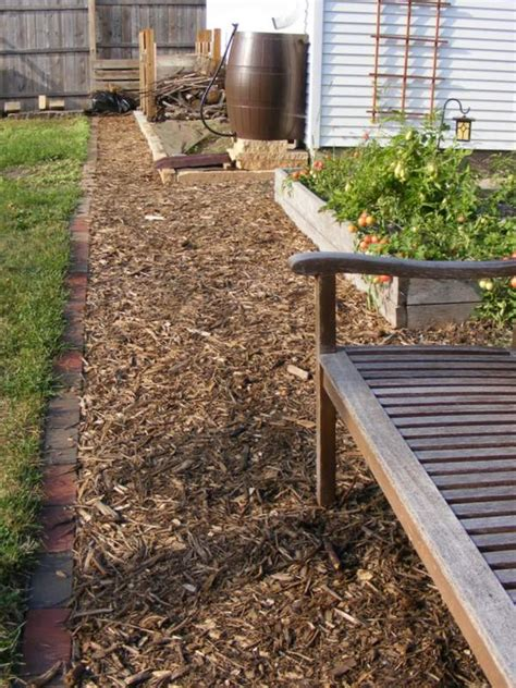 wood chip backyard how to build a wood chip path in your garden this spring
