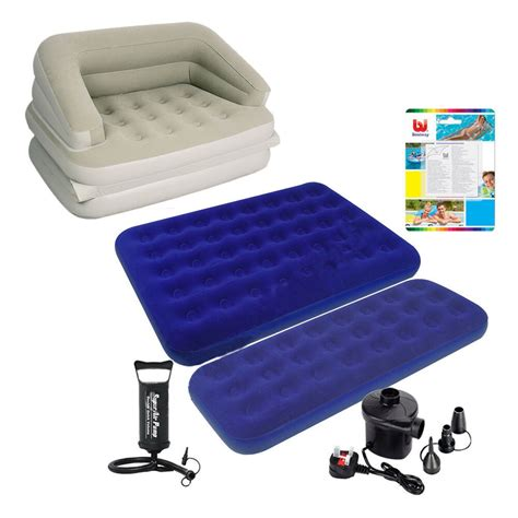 single flocked air bed cing airbed mattress repair kit ebay