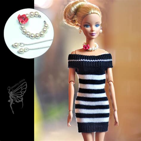 New Listing Fashion Beautiful Handmade Clothes Dress For 9 Ba doll clothes dress and handmade jewelry set for