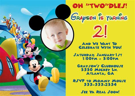 mickey mouse clubhouse invitation template mickey mouse clubhouse digital invitation by preciouspixel