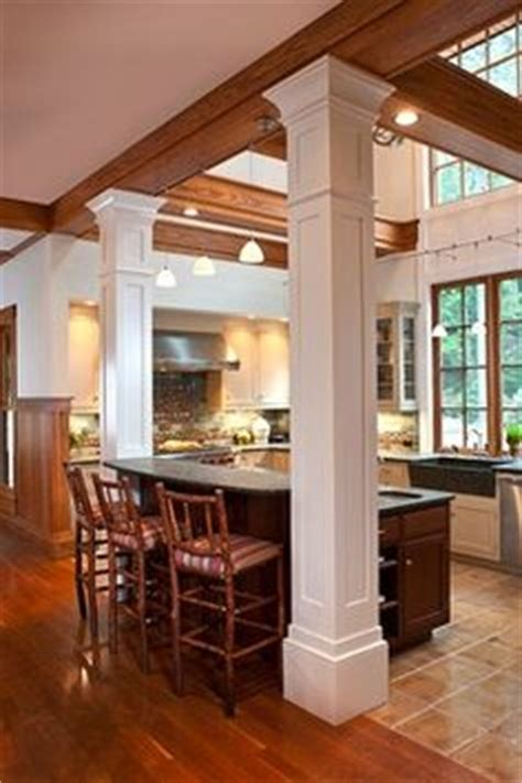kitchen islands with pillars another one kitchens and columns on pinterest load bearing wall columns and