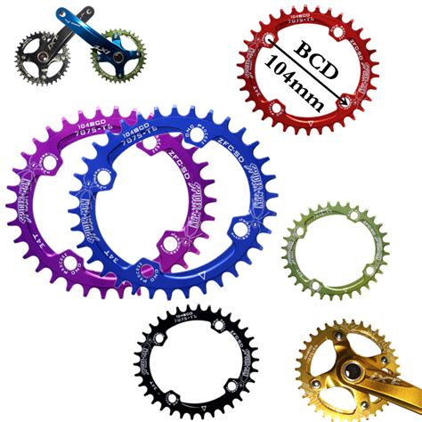 Chainwheel Sepeda 104bcd 34t bicycle crank 104bcd oval shape narrow wide 32t 34t 36t mtb chainring bicycle chainwheel bike