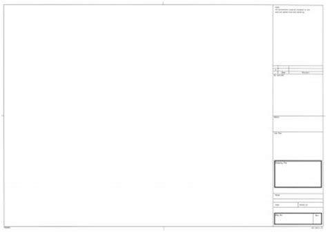 drawing paper template a3 architect blank tracing paper