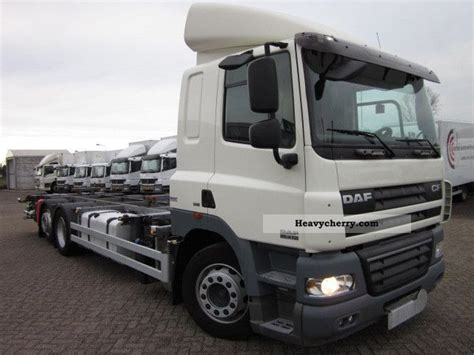 mega truck chassis daf cf 85 410 6x2 euro 5 mega 2008 swap chassis truck