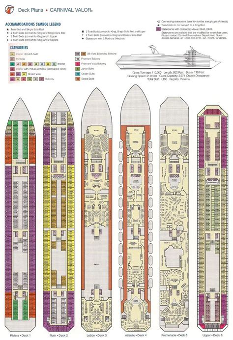 carnival floor plan carnival valor deck plan cruise pinterest cruises