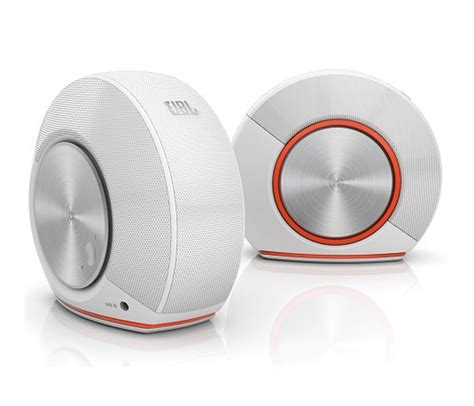 Speaker Multimedia Jbl richer sounds jbl pebbles white multimedia speaker system