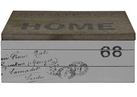 rechteckige feuerschale holzdose home 68 rechteckige vintage retro shabby landhaus