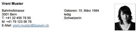 Lebenslauf Schweiz Fuhrerausweis Lebenslauf Oder Cv