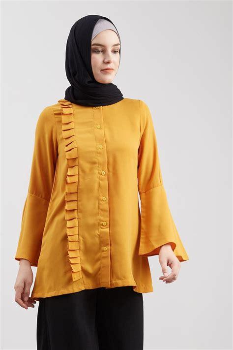 Atasan Wanita 36 Lina Top Fit To L Baby Teryrs sell vebula top mustard tops hijabenka
