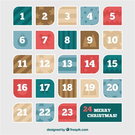 Calendario Moderno Calendario Moderno De Adviento Descargar Vectores Gratis