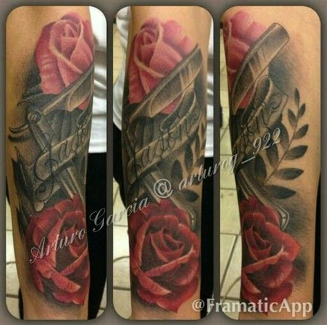 tattoo shops odessa tx half sleeve pink realistic roses with black and gray