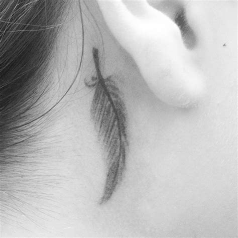 small feather tattoo small feather