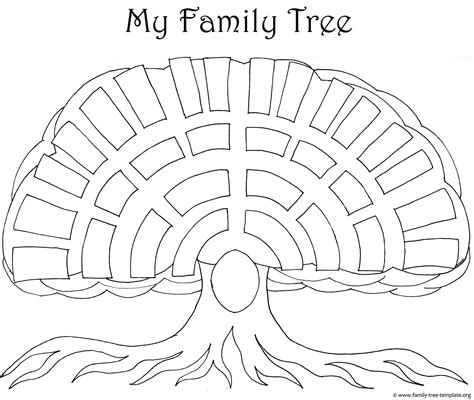 family tree template for pages big oak family tree template as a coloring page for