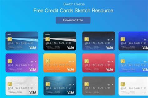 credit card template numbers free credit cards vector ui sketch template creativetacos