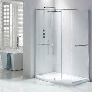 Bath Shower Enclosures Uk Aquaglass Closing Walk In Shower Enclosure From Frontline