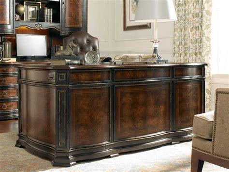 hooker grandover executive desk hooker furniture grandover black with gold accents 72 l x