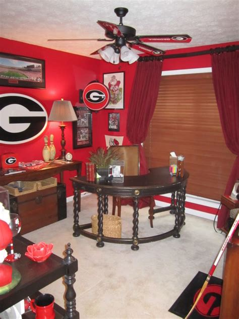 georgia bulldog home decor georgia bulldog fan office aka man cave traditional