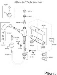 Price Pfister Kitchen Faucet Parts Diagram 538 Series Bixby