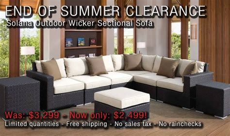 outdoor wicker sectional clearance max furniture end of the summer clearance solana outdoor