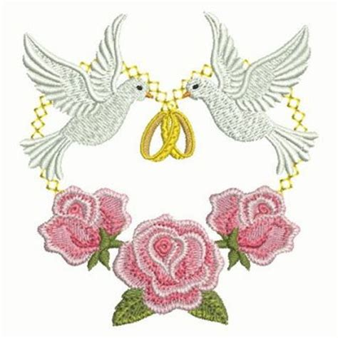 wedding rings embroidery design free rings doves embroidery designs machine embroidery designs